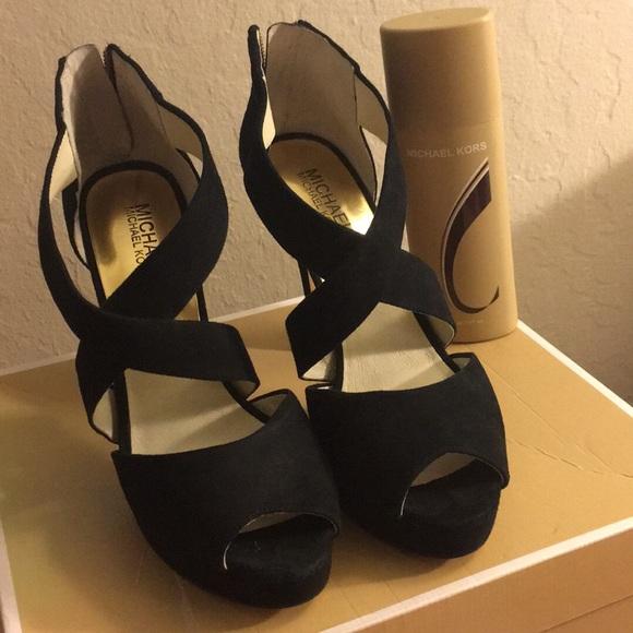 Michael Kors Shoes - Michael kors  suede heels